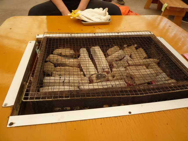 焼き牡蠣 炭焼き台