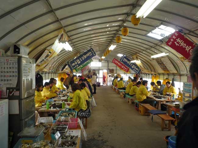 住吉丸 加布里漁港の牡蠣小屋