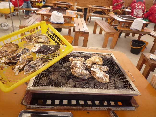 大黒丸 岐志漁港の牡蠣小屋